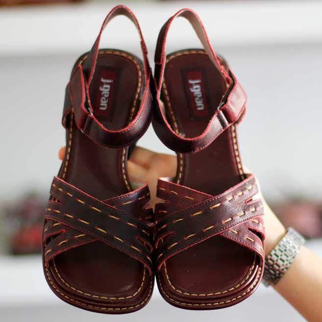 Sandália Em couro Joanetes Esporão Calcâneo Confortável  Retrô Vintage  DQ0005