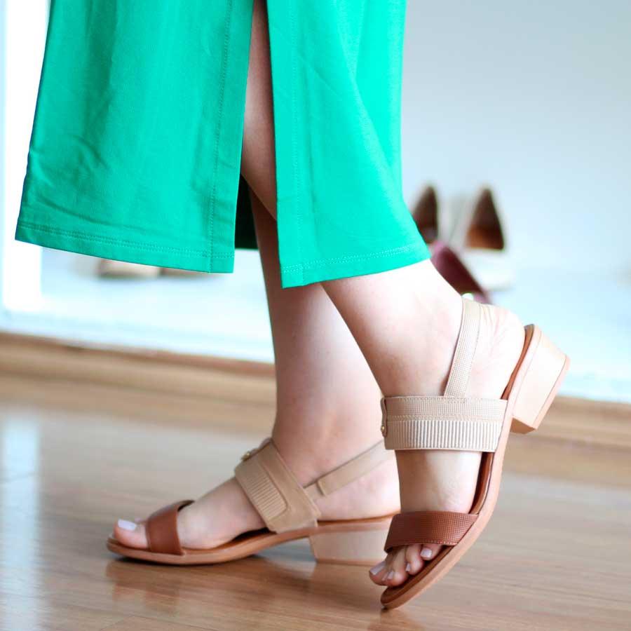 Sandália Feminina Confortável Usaflex Salto Médio AD2205