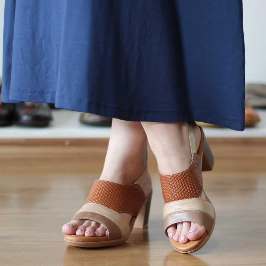 Sandália Feminina Confortável Usaflex Salto Separado Alto AD3811