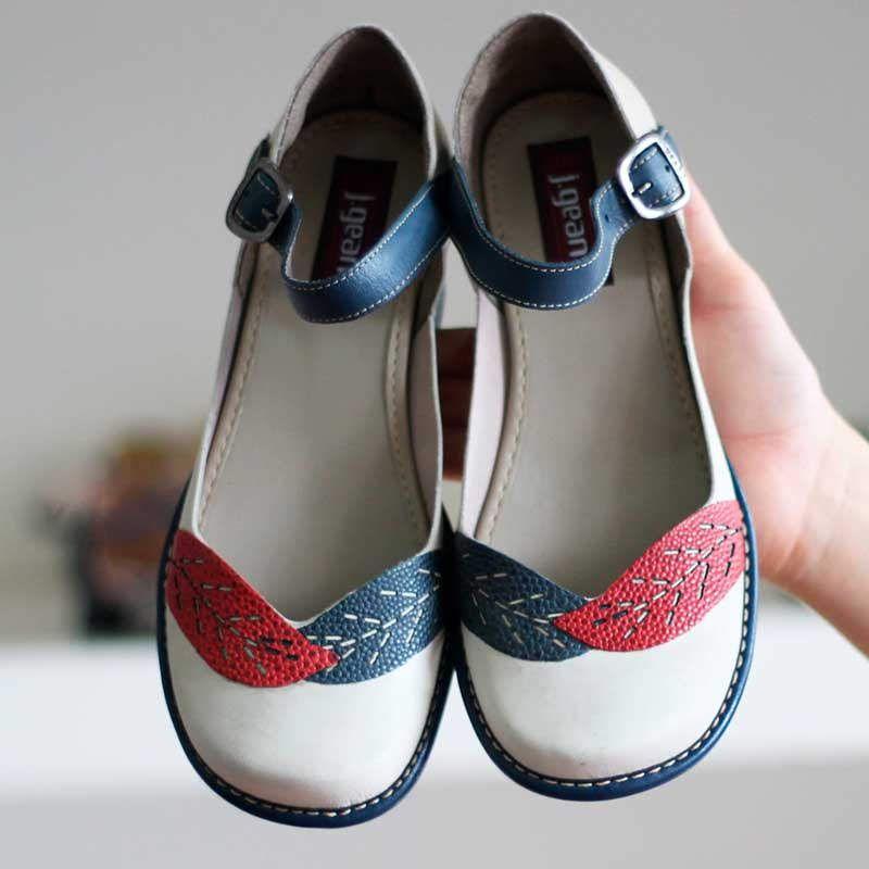 Sapato Boneca Salto Grosso Quadrado Estilo Retrô Vintage Areia CK0091