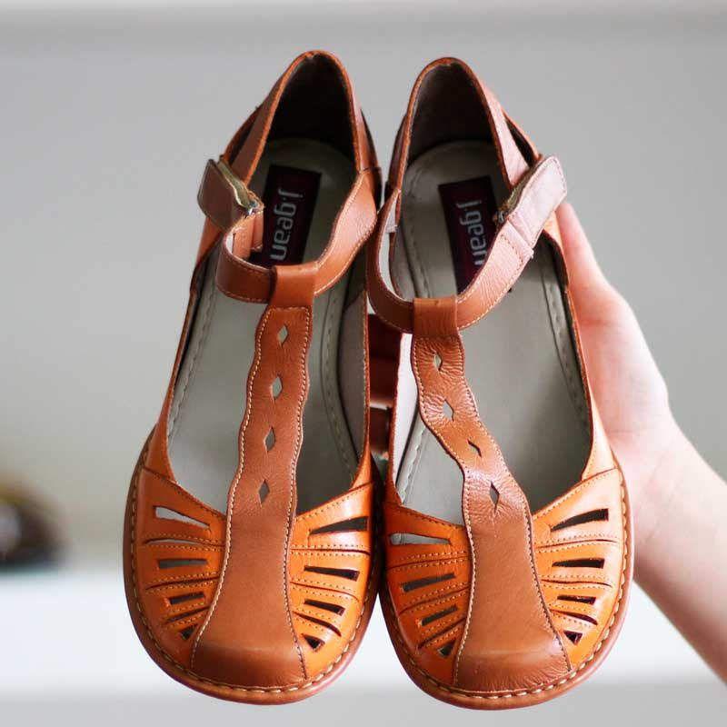 Sapato Boneca Salto Grosso Quadrado Estilo Retrô Vintage CK0081 Laranja