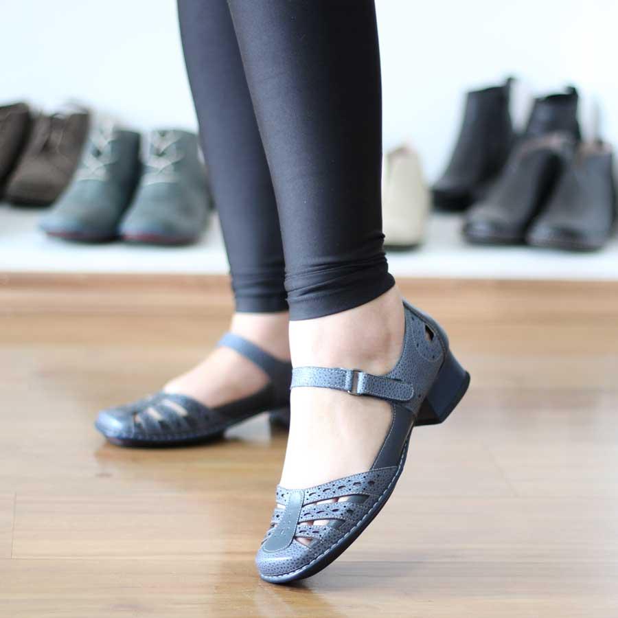 Sapato Boneca Salto Grosso Quadrado Estilo Retrô Vintage  DX0012