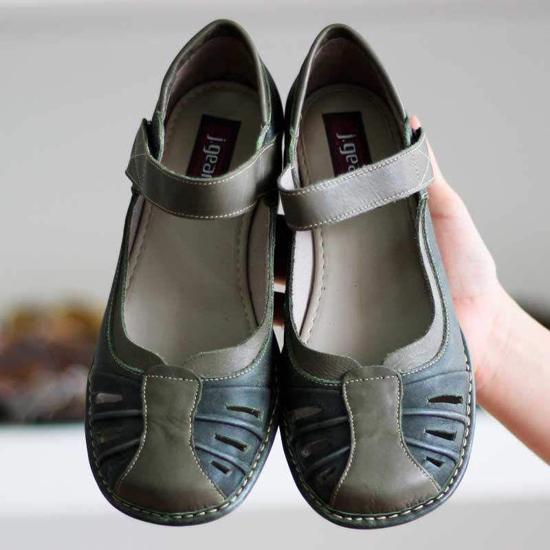 Sapato Boneca Salto Grosso Quadrado Estilo Retrô Vintage Verde CK0082