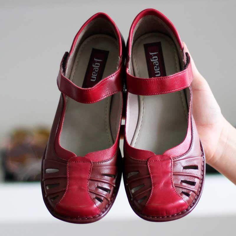 Sapato Boneca Salto Grosso Quadrado Estilo Retrô Vintage Vermelho CK0082