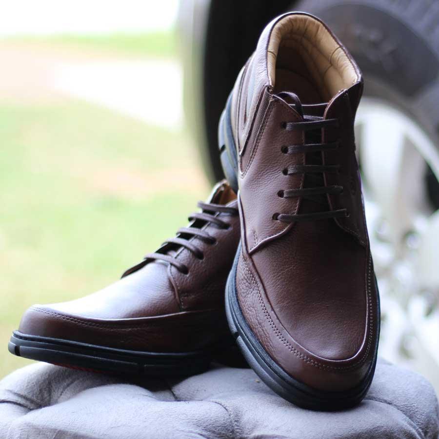 Sapato Bota Masculino Anatomicgel Em Couro Palmilha Anatômica 360 7898