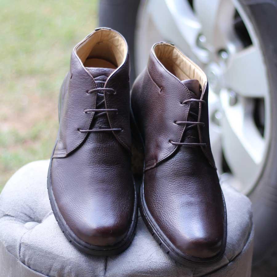 Sapato Bota Masculino Anatomicgel Em Couro Palmilha Anatômica 360 7999