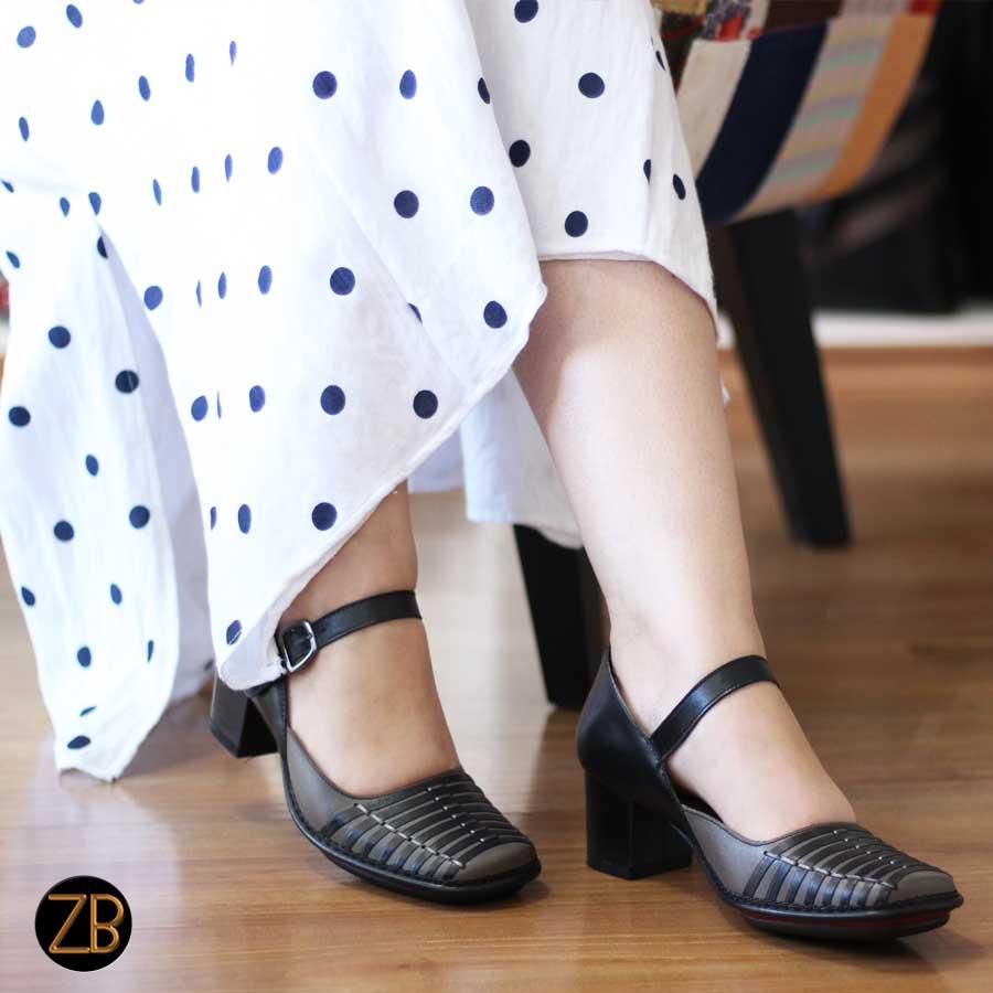 Sapato Feminino Boneca Salto Grosso Quadrado Estilo Retrô Vintage   0202