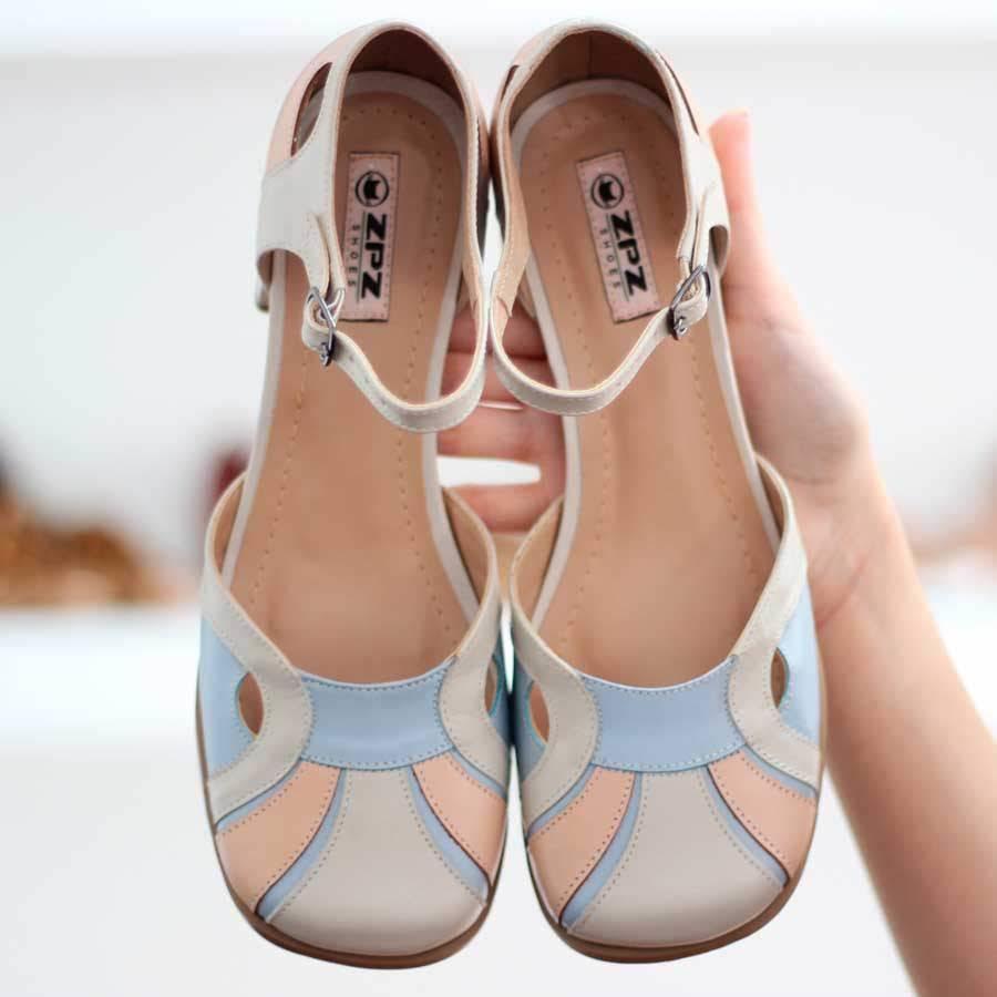 Sapato Feminino Boneca Salto Grosso Quadrado Estilo Retrô Vintage 633