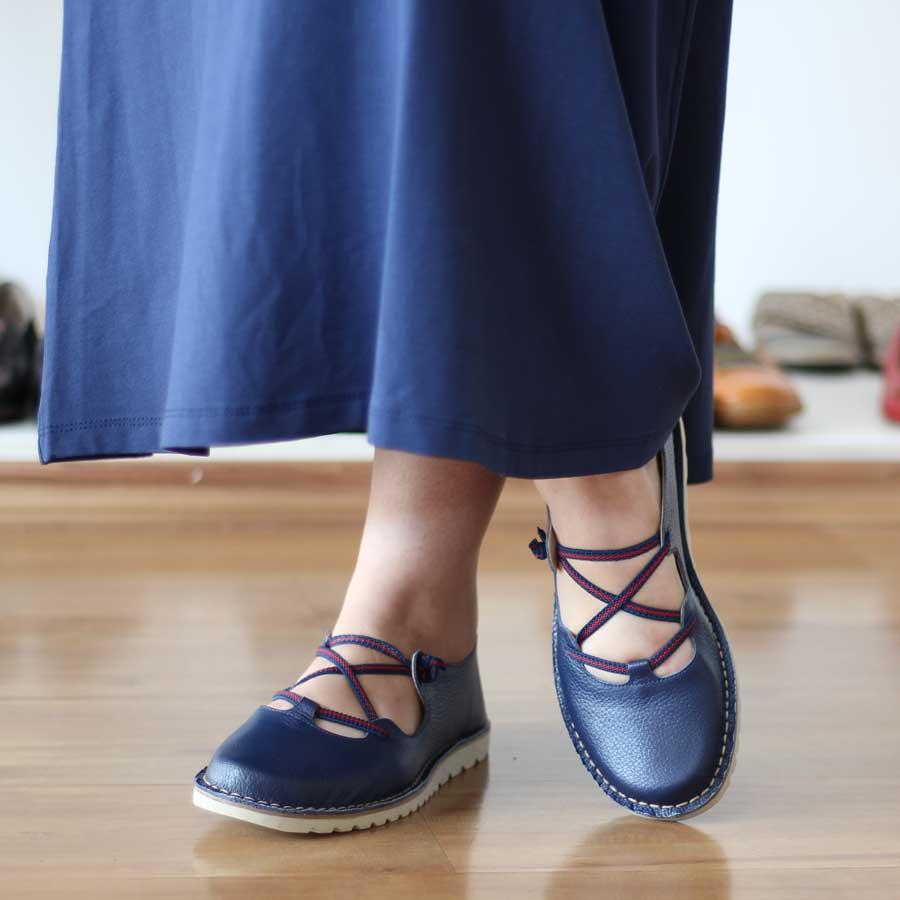 Sapato Feminino em Couro Estilo Retro Boneca 0406