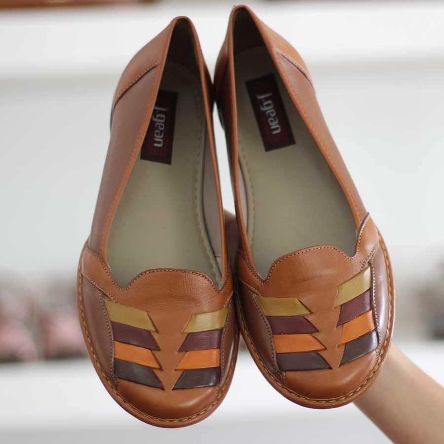 Sapato Feminino Retrô Vintage Couro Joanete Fascite Plantar 0028