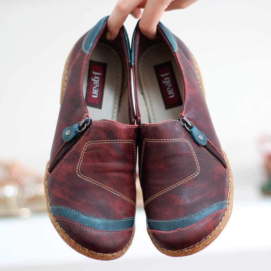 Sapato feminino Retrô Vintage Em Couro Legitimo  CL0034