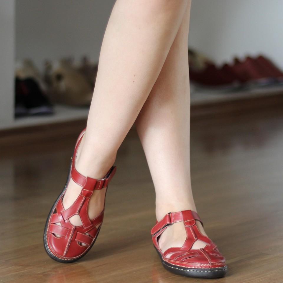 Sapato feminino Retrô Vintage Em Couro Legitimo Sapatilha 0003