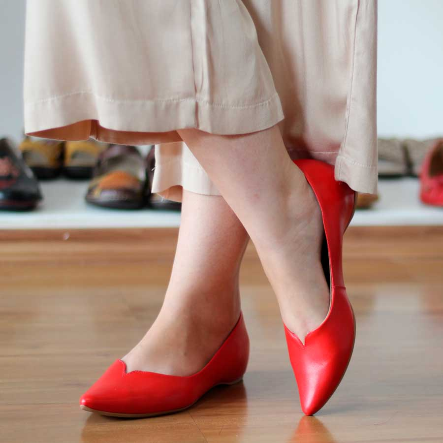 Sapato Feminino Usaflex Couro Bege Salto Embutido Bico Fino 5805