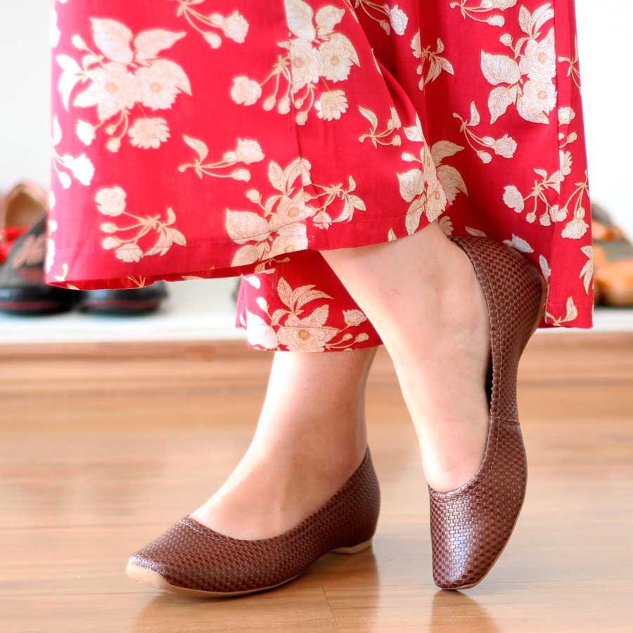 Sapato Feminino Usaflex Couro Salto Embutido AD0201