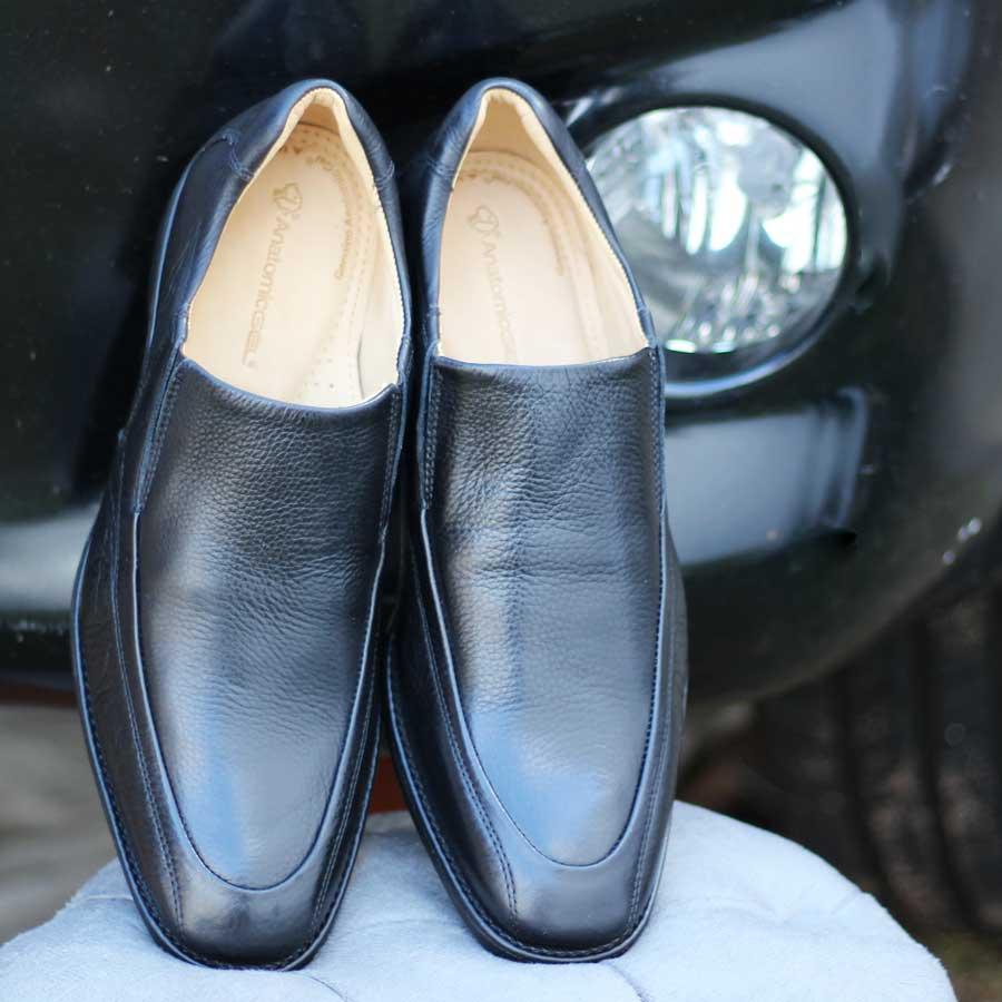 Sapato Masculino Social Anatomicgel Em Couro Palmilha Anatômica 9246