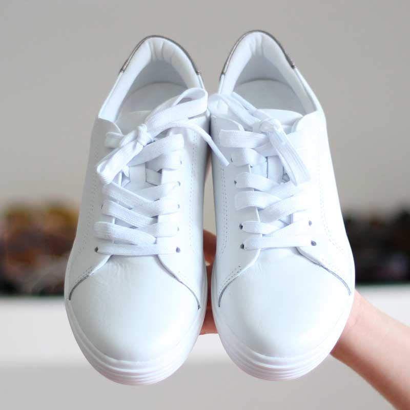 Tênis Feminino Usaflex Solado conforto em Couro Branco 4201