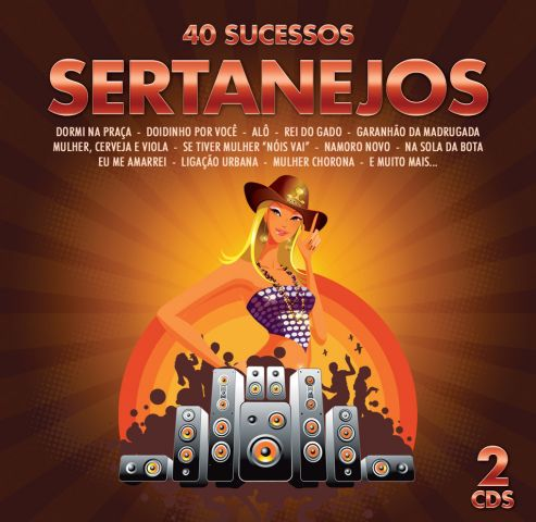 40 Sucessos Sertanejos - Duplo - CD