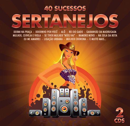 40 Sucessos Sertanejos - Duplo - CD