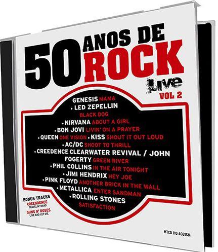 50 Anos De Rock - Live - Vol.2 - CD
