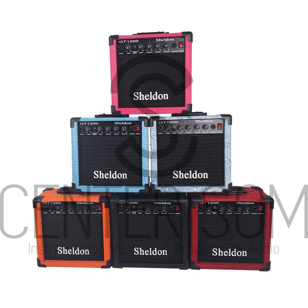 Amplificador Cubo Para Guitarra Sheldon Gt1200 15w C/ Drive