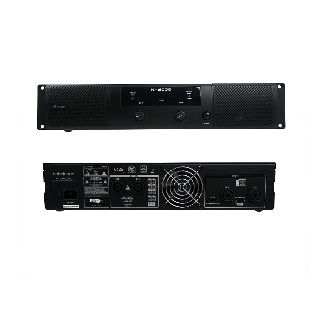 Amplificador De Potência Behringer Nx3000 Com 3000w