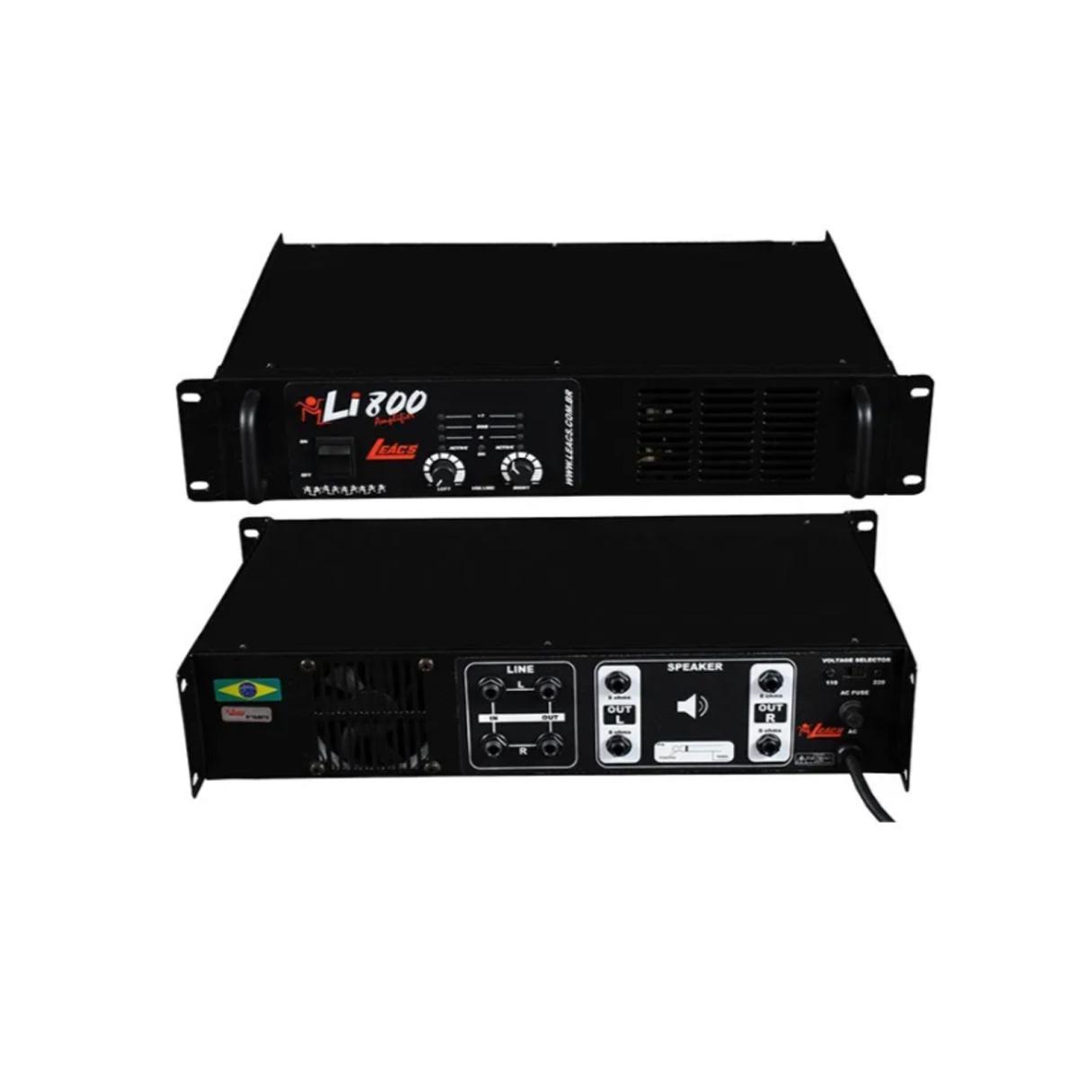 Amplificador De Potência Li800 200w