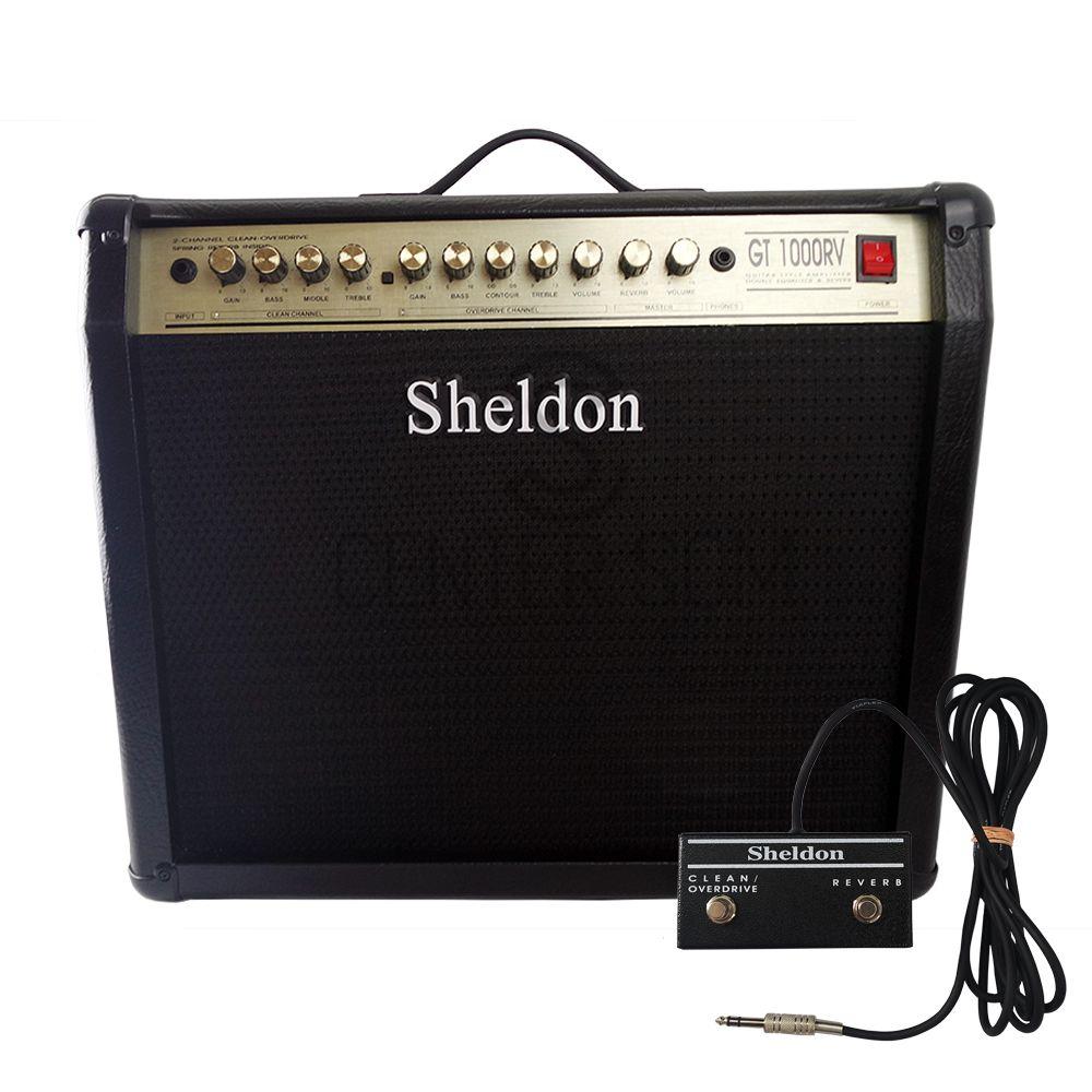 Amplificador Sheldon GT 1000 RV Guitarra 100w + Pedal Switch