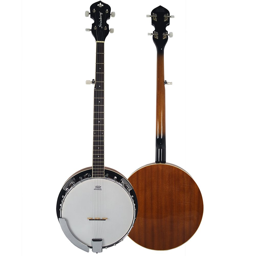 Banjo Americano 5 Cordas Strinberg Wb50 Mahogany Pele Remo