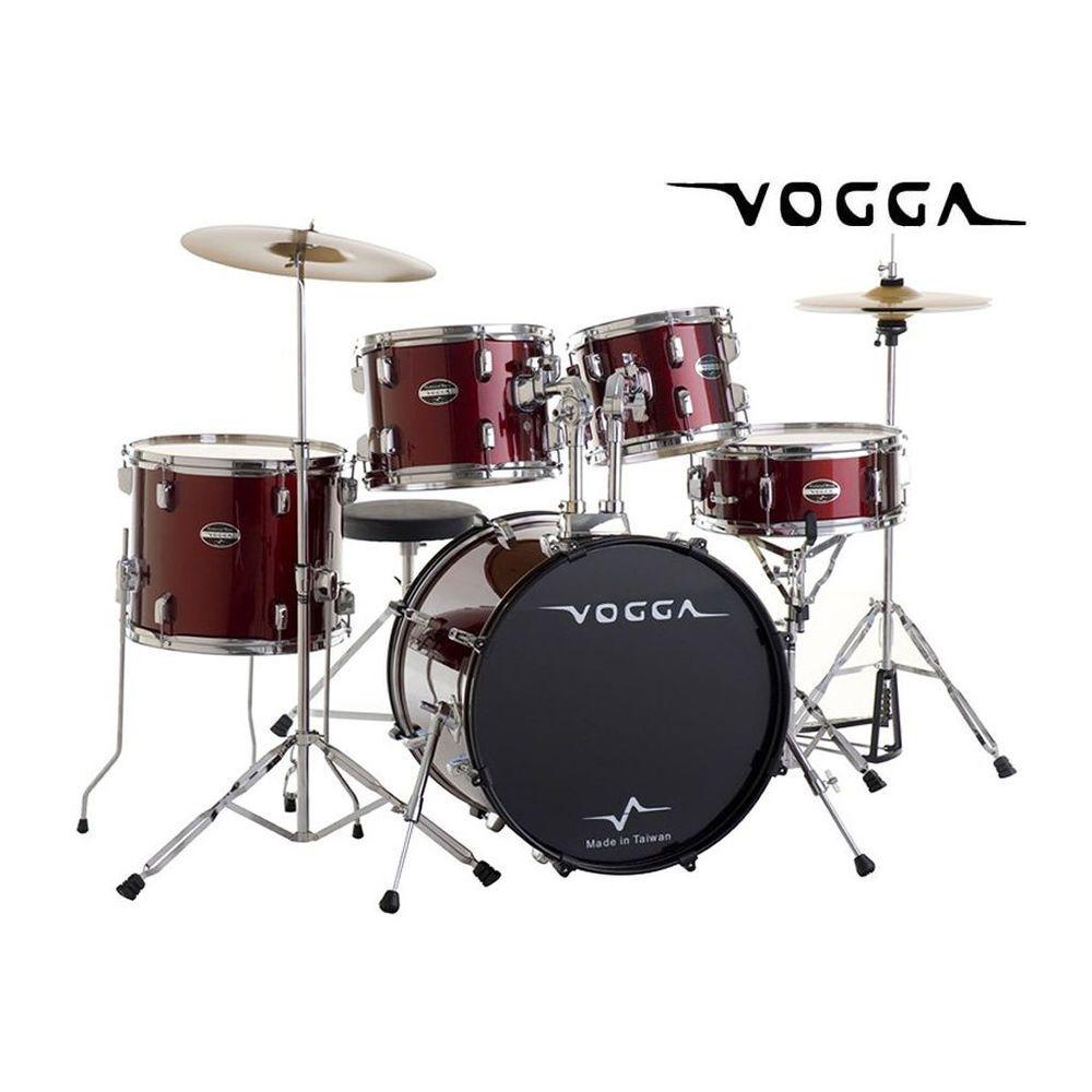 Bateria Acustica Vogga Talent Vpd924 Wr Vinho Bumbo 22