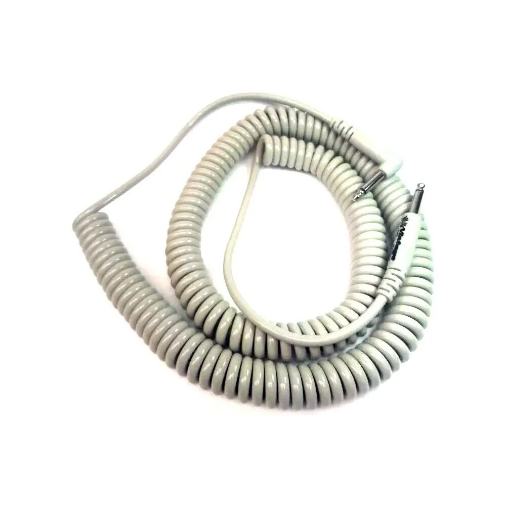 Cabo P10 P10 Profissional Espiral 9,15m Mac Cabos Bege