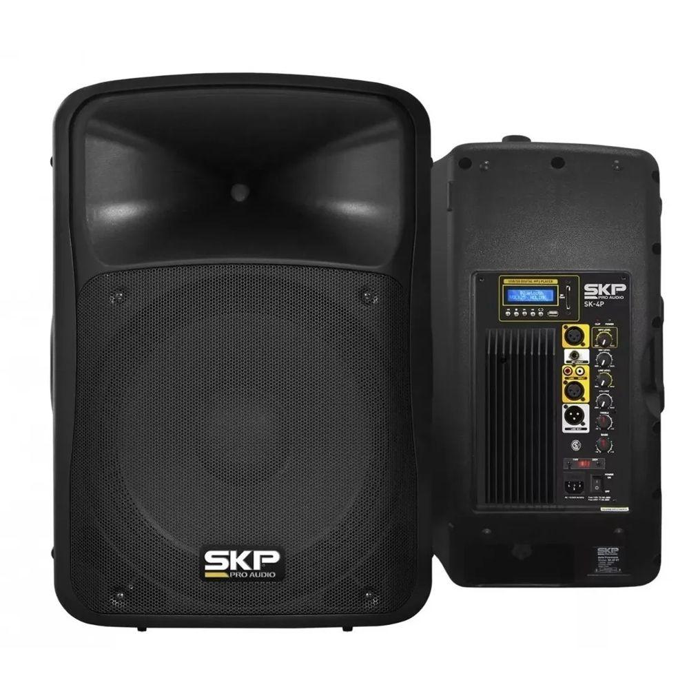 Caixa Amplificada ATIVA SKP4 - BT/USB - 250w Rms 15 Pol
