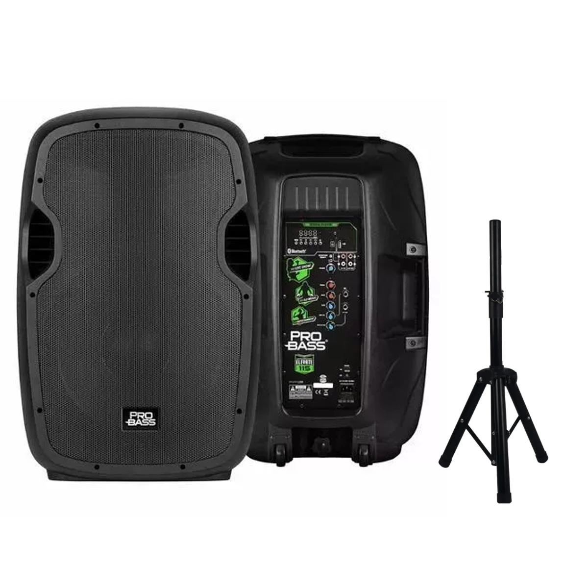 CAIXA DE SOM AMPLIFICADA BT/USB/SD/FM 15'PROBASS ELEVATE 115 + TRIPE