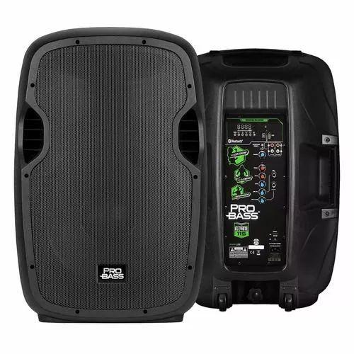 Caixa De Som Amplificada C/ Bluetooth USB/SD/FM- 15' Pol. 800W - Probass Elevate 115