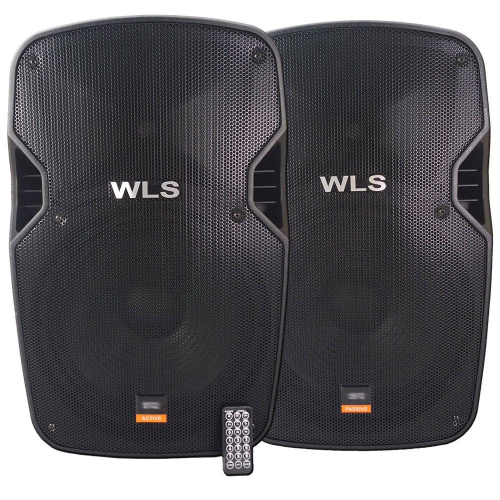 Caixa de som Ativa E Passiva WLS S15 430 Wrms Bluetooth/USB/SD
