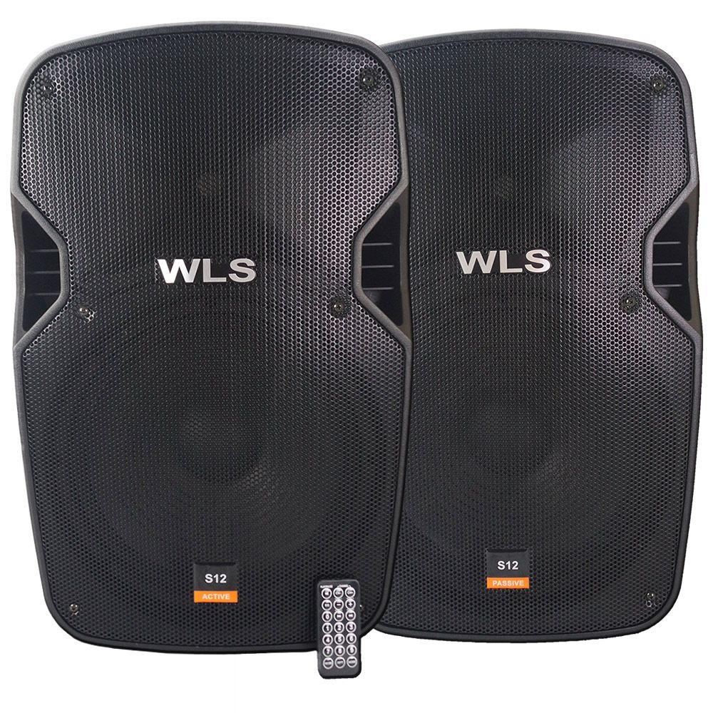 Caixa De Som Ativa + passiva WLS S12 Bluetooth/USB/SD 430w Rms