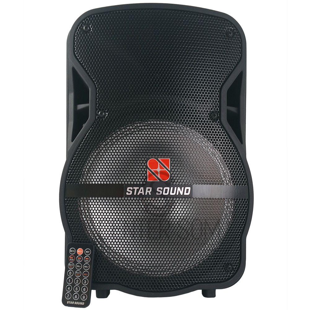 Caixa De Som C/ Bateria 5hr Bluetooth e Microfone - Star Sound SS100 By Staner