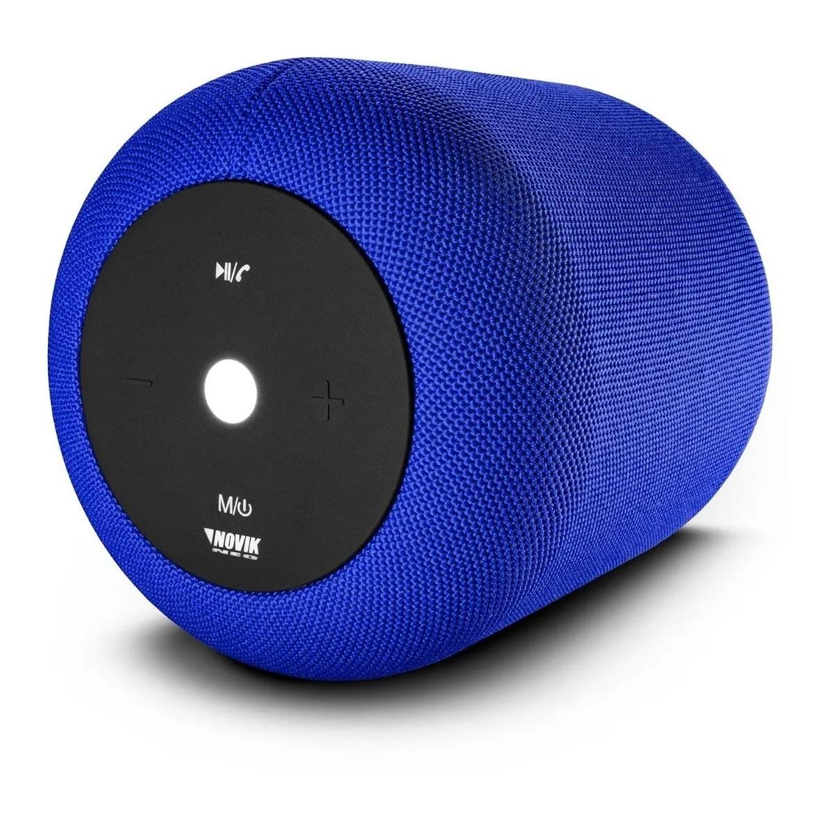 Caixa De Som Novik Smart Com Bluetooth E Bateria Start Xl Azul