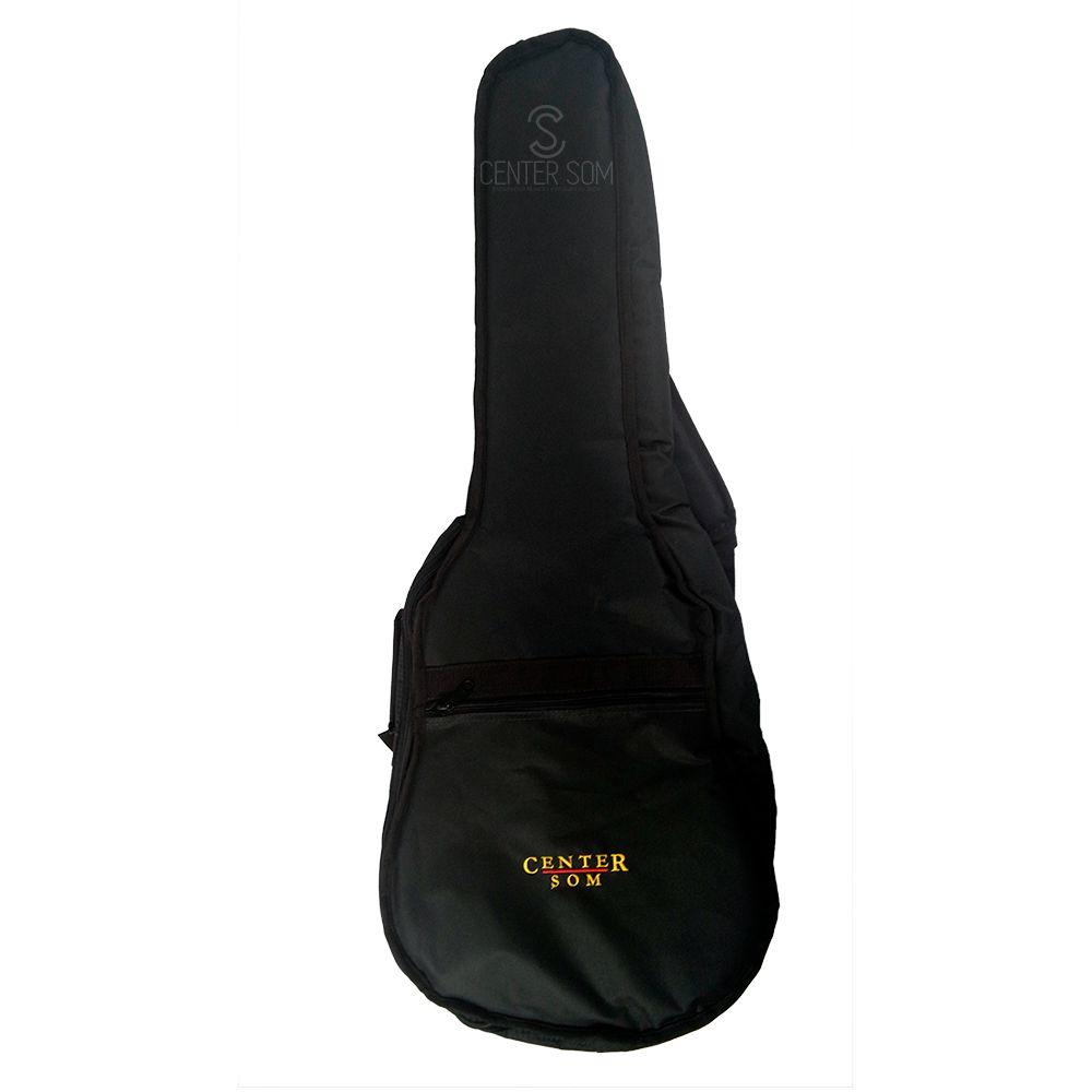 Capa simples Center Som violão 12 cordas - Preta