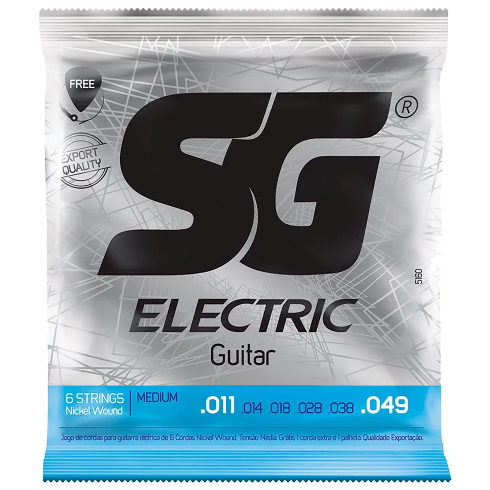 Cordas guitarra SG 5160 .011 - .049 - Tensão média