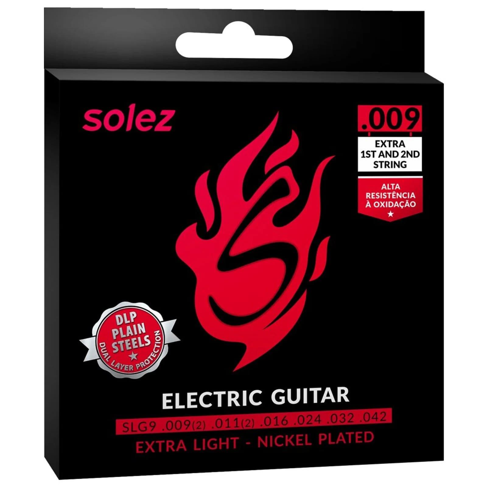 Cordas para Guitarra Solez SLG9 .009 - Tensão leve
