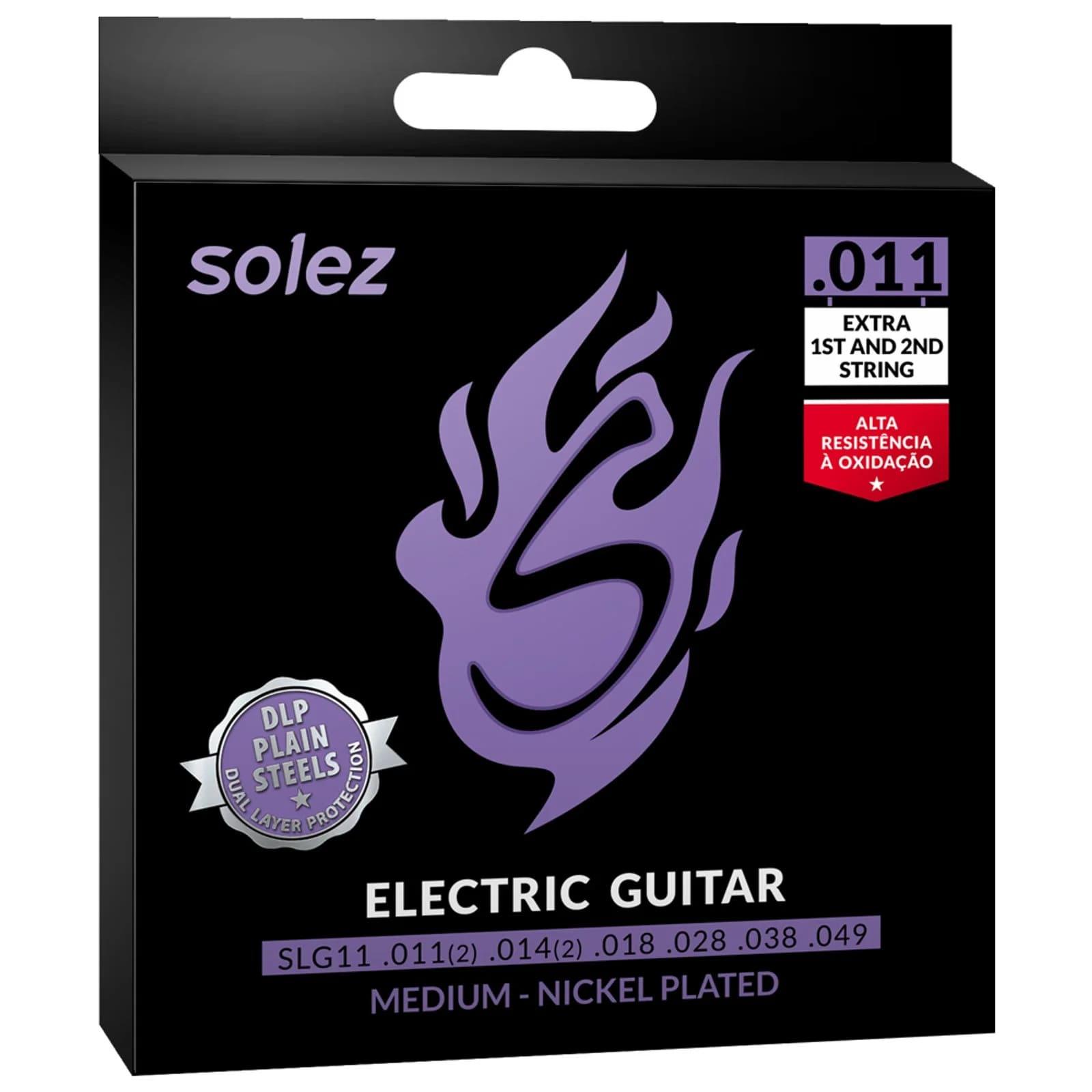 Cordas para Guitarra Solez SLG11 .011 - Tensão média
