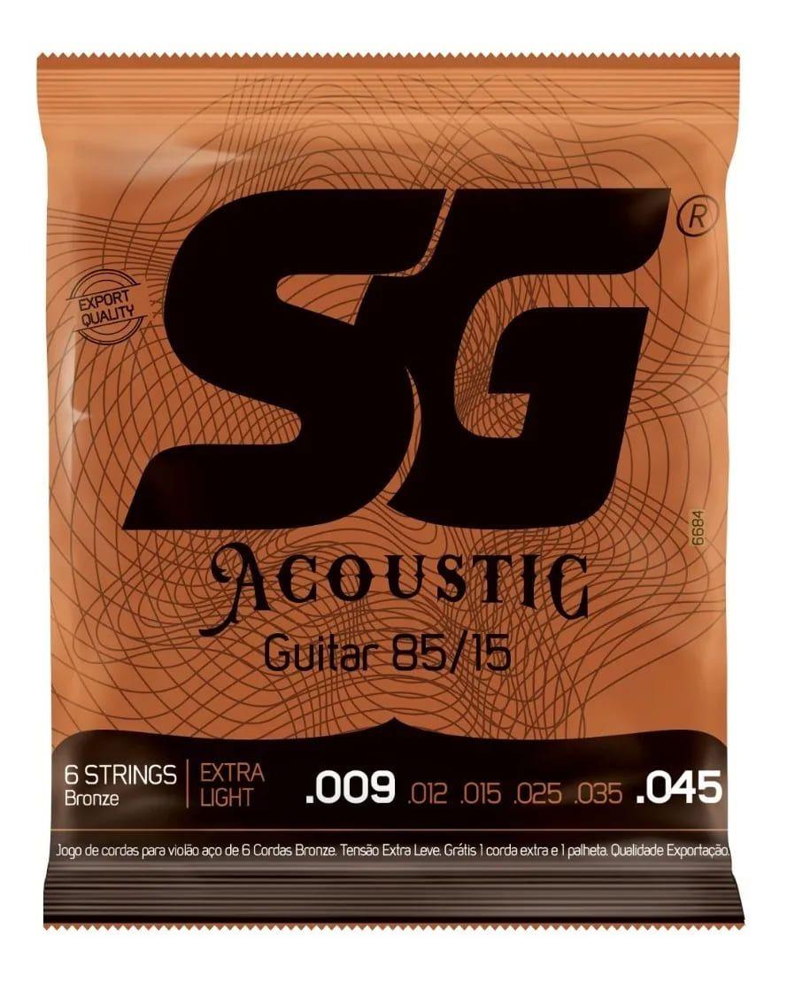 Cordas SG Aço para violão - Tensão leve .009 - .045 Phosphor Bronze