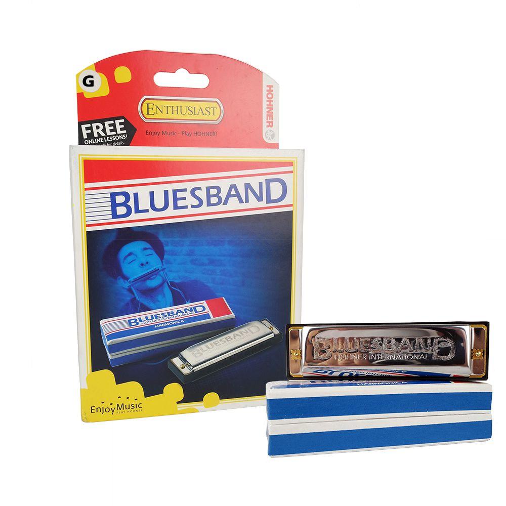 Gaita de Boca Harmônica Hohner BluesBand G