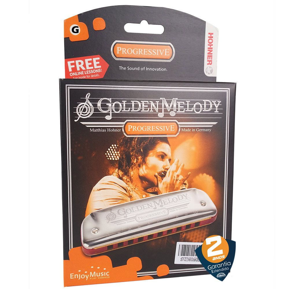 Gaita De Boca Hohner Harmônica Golden Melody G (sol)