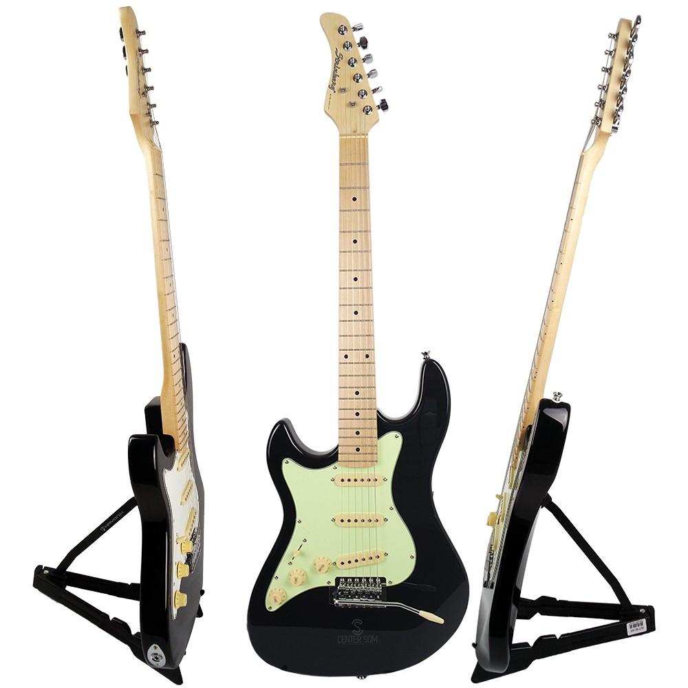Guitarra Stratocaster Strinberg STS100 LH BK Preta Canhoto