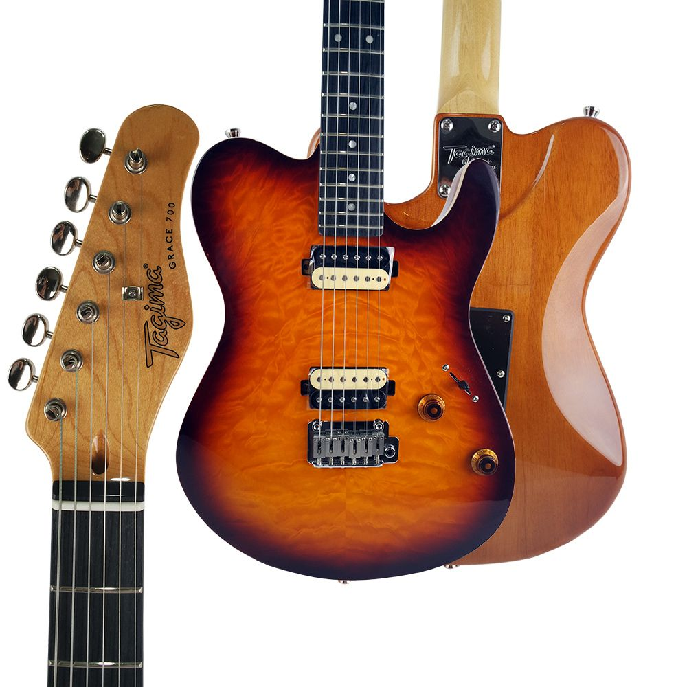 Guitarra Tagima Grace 700 HB Cacau Santos Honey Burst