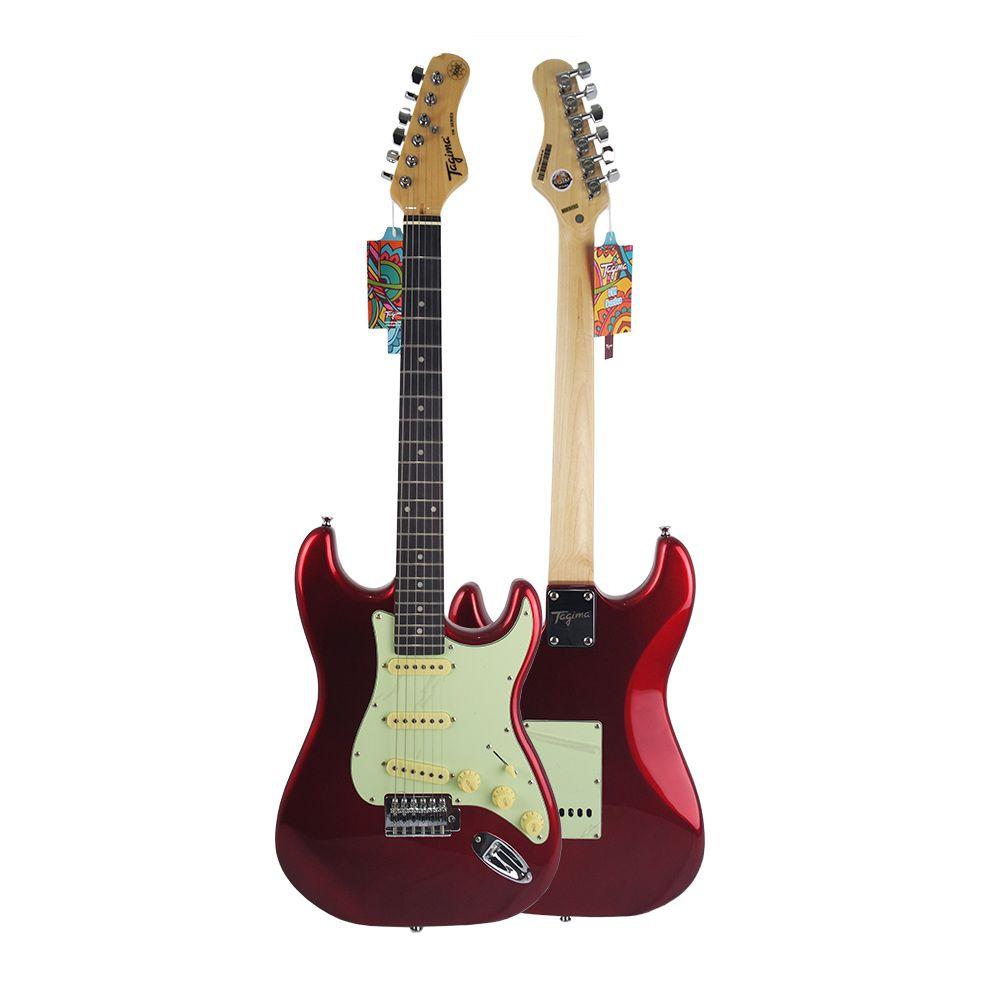 Guitarra Tagima Tg500 CA Candy Apple Vermelha Elétrica + Cabo P10