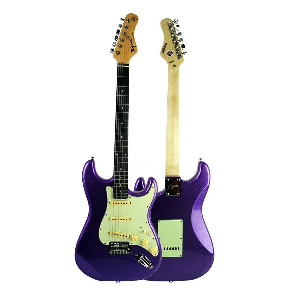 Guitarra Tagima Tg500 MPP Metalic Purple Elétrica + Cabo P10