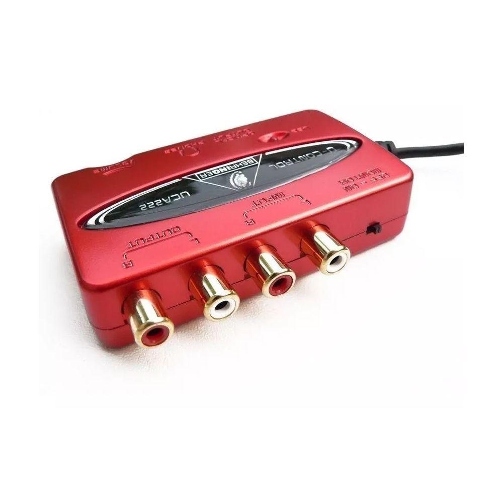 Interface De Áudio Behringer Usb Uca222