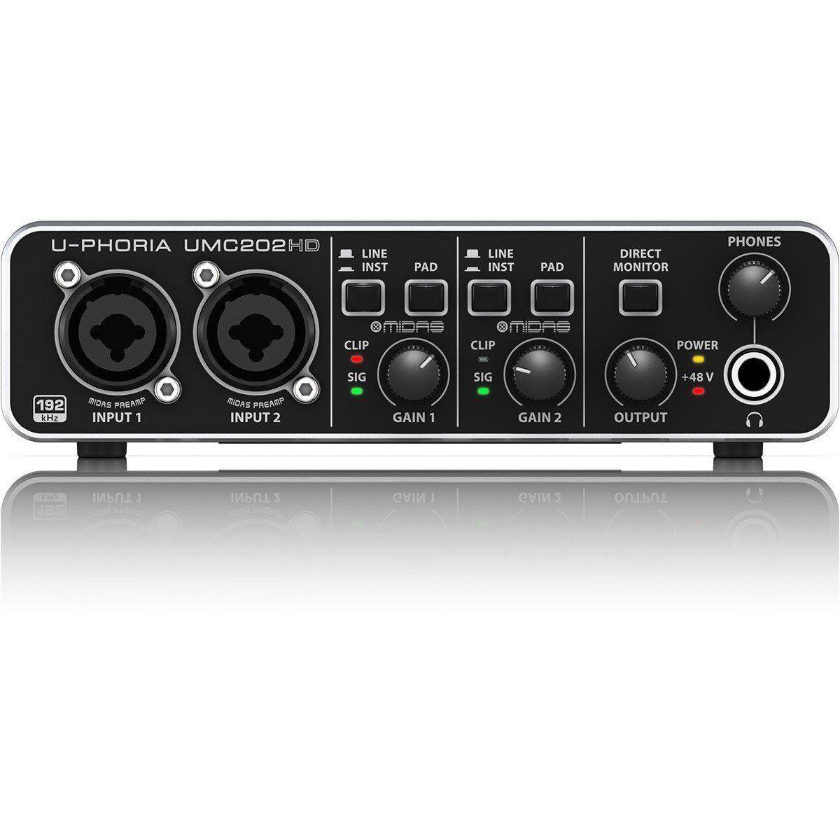 Interface De Áudio U-phoria Umc202 Hd Behringer 2x2